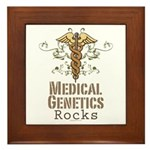 Medical Genetics Rocks Framed Tile