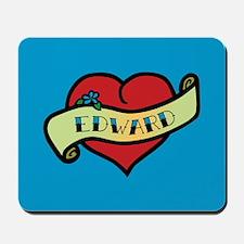 Edward Heart Tattoo Mousepad