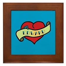 Edward Heart Tattoo Framed Tile