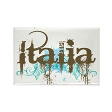 Blue Grunge Italia Rectangle Magnet (10 pack)