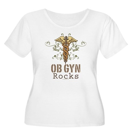 OB GYN Rocks Women's Plus Size Scoop Neck T-Shirt