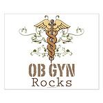 OB GYN Rocks Small Poster