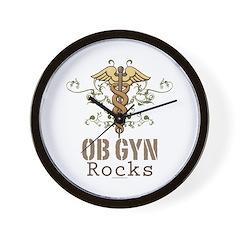 OB GYN Rocks Wall Clock