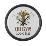 OB GYN Rocks Large Wall Clock