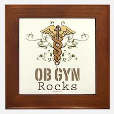 OB GYN Rocks Framed Tile