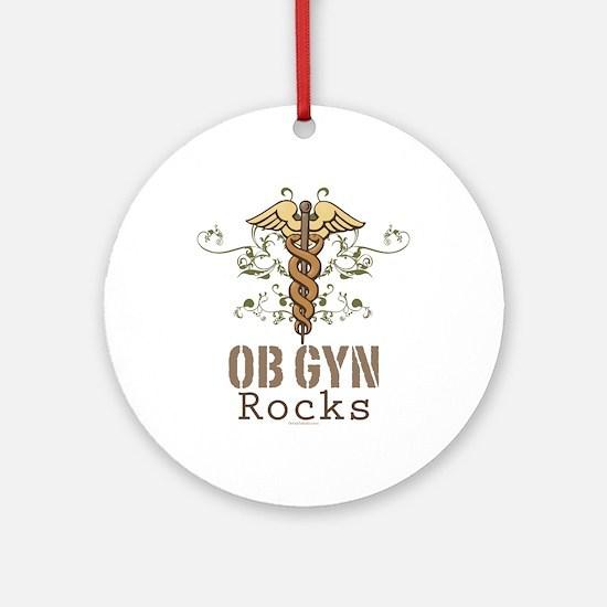 OB GYN Rocks Ornament (Round)