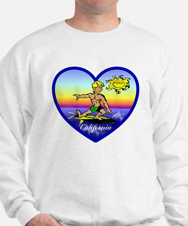 Love California Surf  Sweatshirt