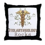 Otolaryngology Rocks Throw Pillow