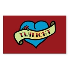 Twilight Heart Tattoo Rectangle Decal