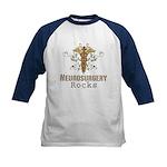 Neurosurgery Rocks Kids Baseball Jersey