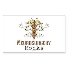 Neurosurgery Rocks Rectangle Decal