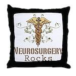 Neurosurgery Rocks Throw Pillow