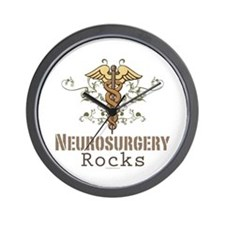 Neurosurgery Rocks Wall Clock