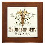 Neurosurgery Rocks Framed Tile