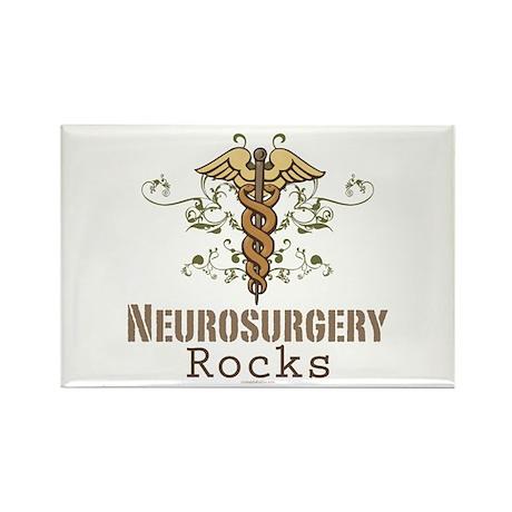 Neurosurgery Rocks Rectangle Magnet (100 pack)