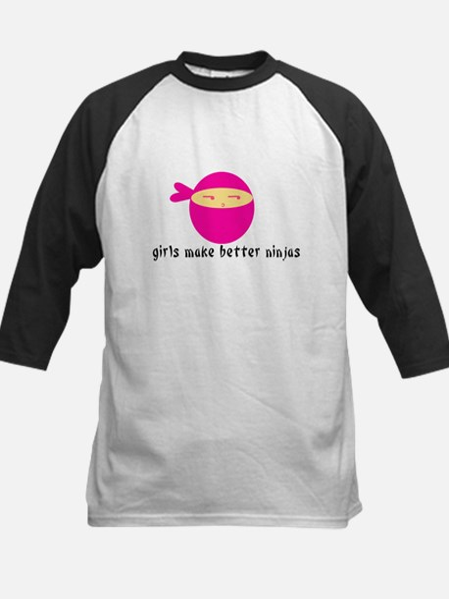 Girls Make Better Ninjas Kids Baseball Jersey