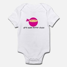 Girls Make Better Ninjas Infant Bodysuit