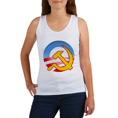 Obama Hammer and Sickle Women's Tank Top