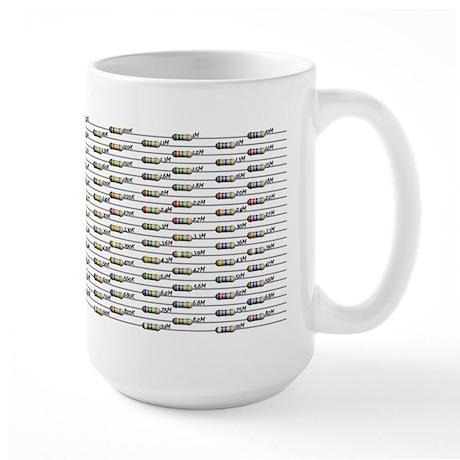 168 Standard Resistors Large Mug