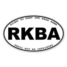 RKBA version 2 Oval Decal