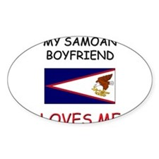 My San Marinese Boyfriend Loves Me Oval Decal