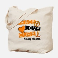 PEACE LOVE CURE Kidney Cancer (L1) Tote Bag