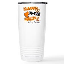 PEACE LOVE CURE Kidney Cancer (L1) Travel Mug