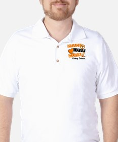 PEACE LOVE CURE Kidney Cancer (L1) Golf Shirt