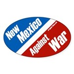 New Mexico Against War oval bumpersticker