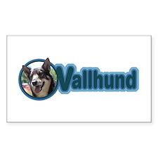 Vallhund Design Rectangle Decal