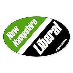 New Hampshire Liberal oval bumper sticker