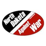 North Dakota Against War oval bumper sticker