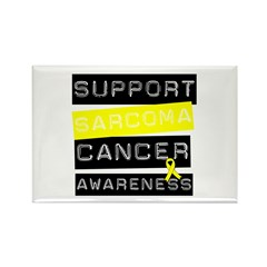 Support Stomach Cancer Rectangle Magnet