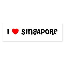 I LOVE SINGAPORE Bumper Bumper Sticker