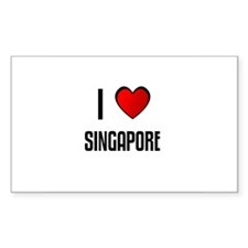 I LOVE SINGAPORE Rectangle Decal