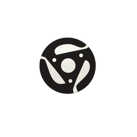 """DJ 45rpm 7"""" Record Mini Button"""