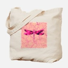 Breast Cancer Awareness Dragonfly Tote Bag