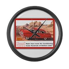 """""""1954 Nash Ad"""" Large Wall Clock"""