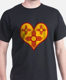 New Mexico Zia Heart T-Shirt