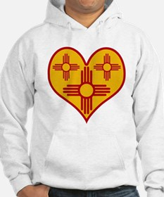 New Mexico Zia Heart Hoodie