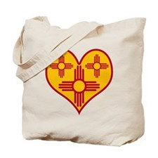 New Mexico Zia Heart Tote Bag