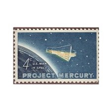 Project Mercury Rectangle Magnet