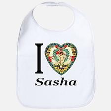 I (Heart) Sasha Bib