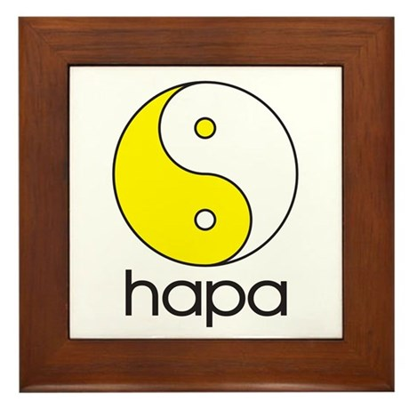Hapa Yin-Yang Framed Tile