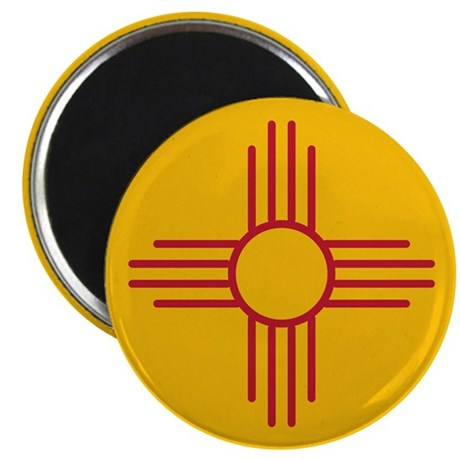 """New Mexico State Flag 2.25"""" Magnet (100 pack)"""