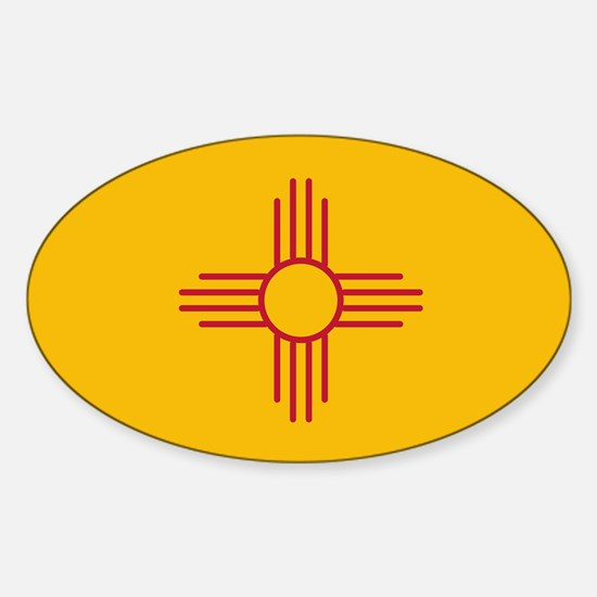 New Mexico State Flag Oval Decal