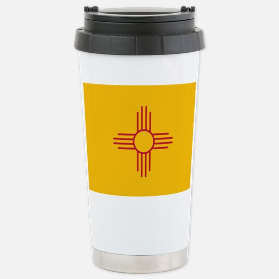 New Mexico State Flag Stainless Steel Travel Mug