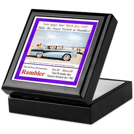 """1956 Rambler Ad"" Keepsake Box"