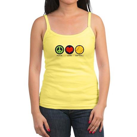 Peace Love Softball Jr. Spaghetti Tank