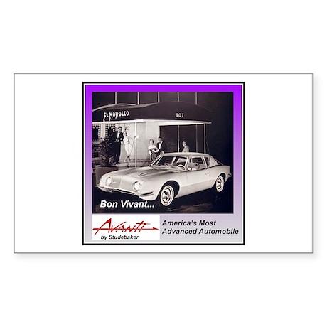 """""""1962 Avanti Ad"""" Rectangle Sticker"""